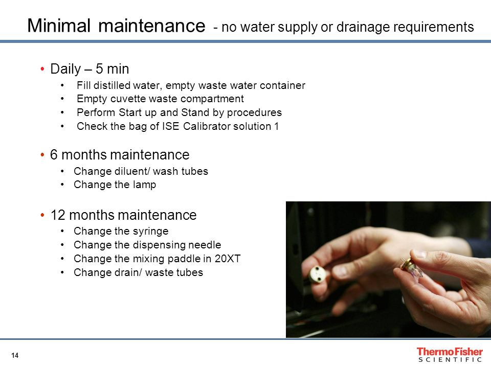 Minimal maintenance - no water supply or drainage requirements