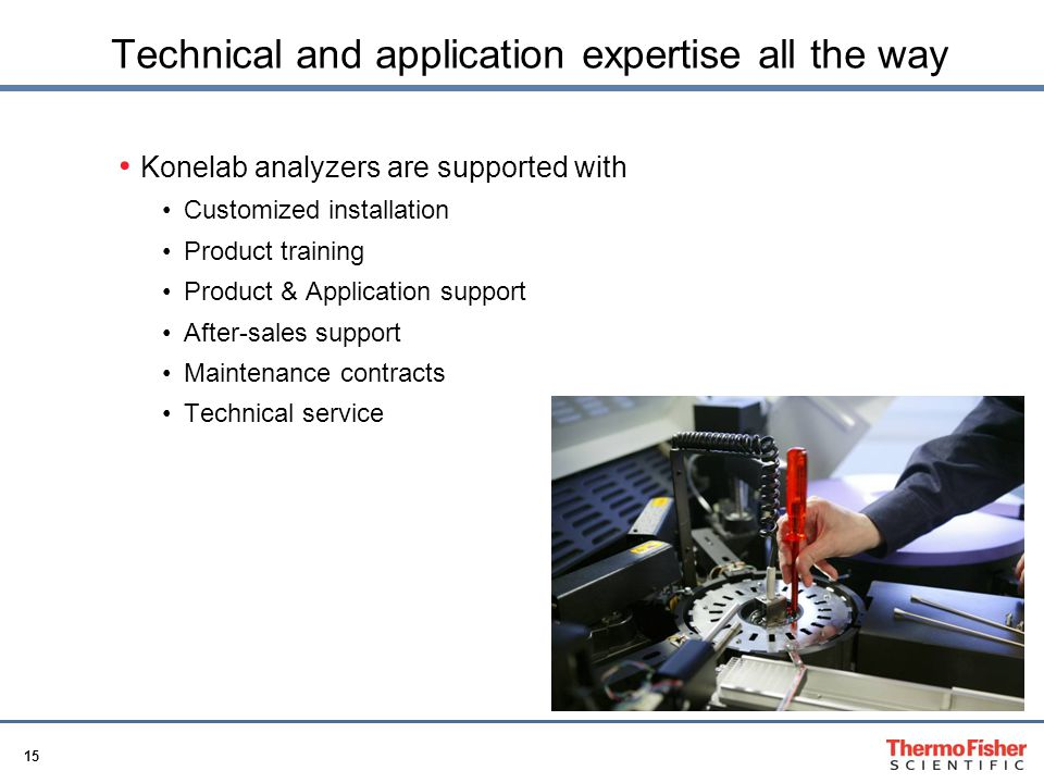 Technical and application expertise all the way