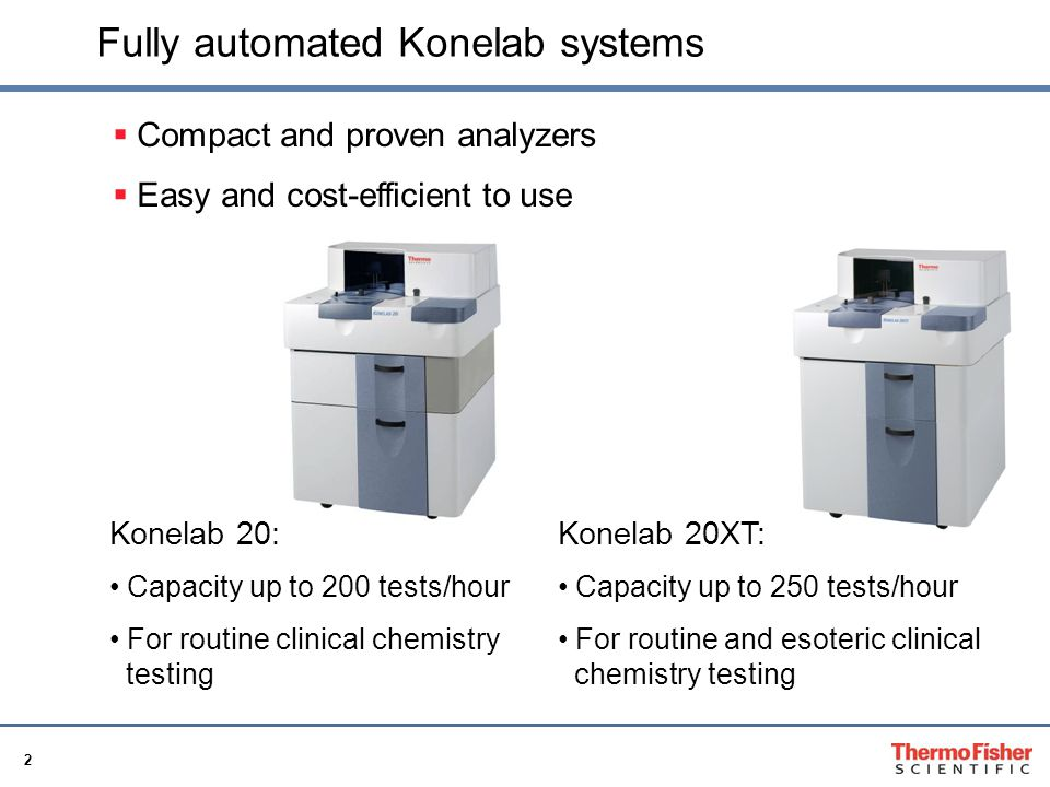 Fully automated Konelab systems