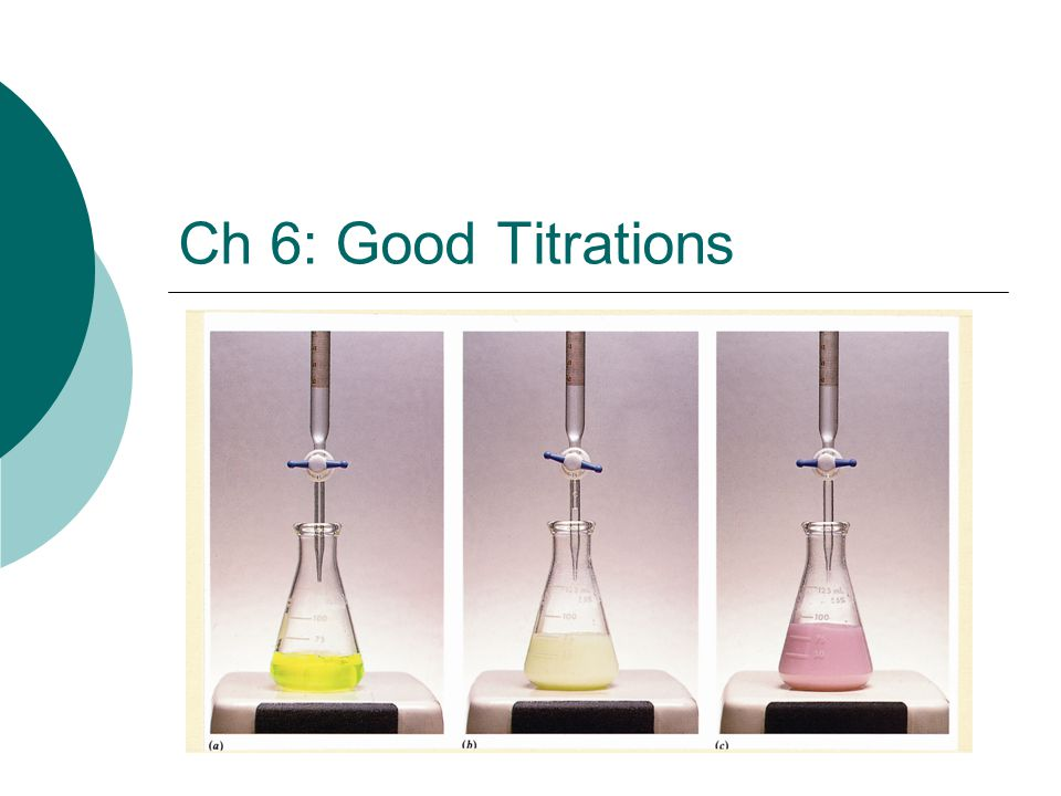 Ch 6: Good Titrations