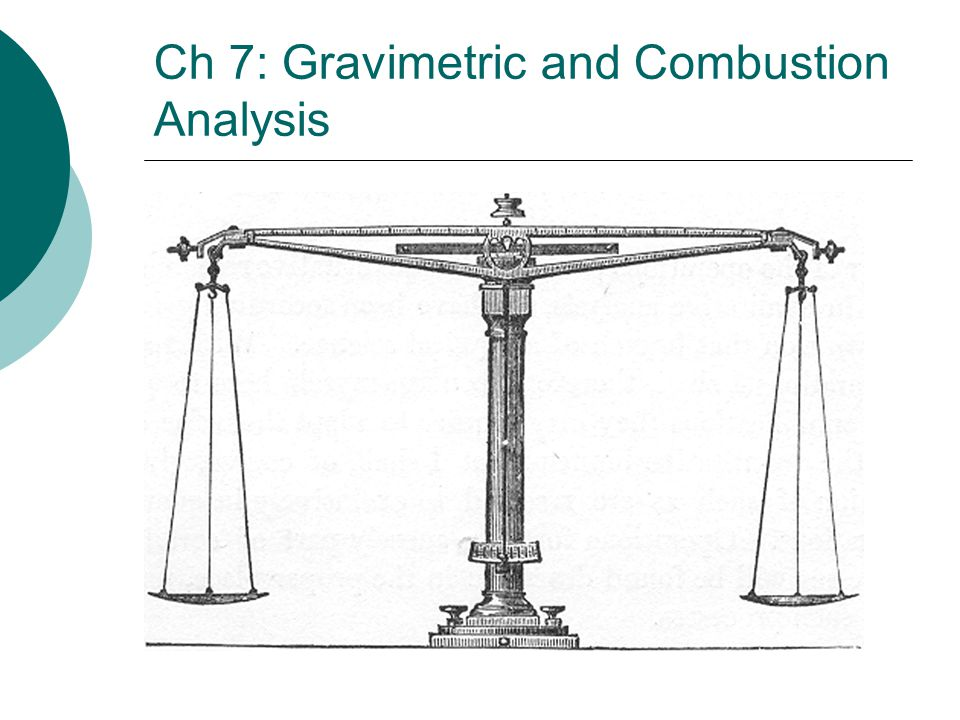 Ch 7: Gravimetric and Combustion Analysis