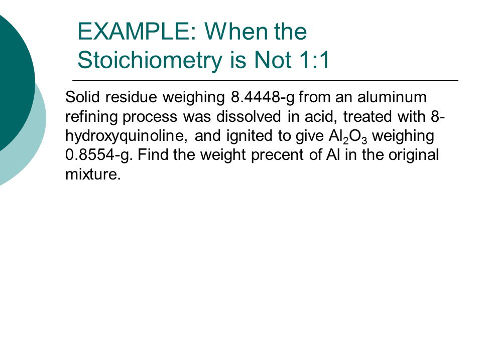 EXAMPLE: When the Stoichiometry is Not 1:1