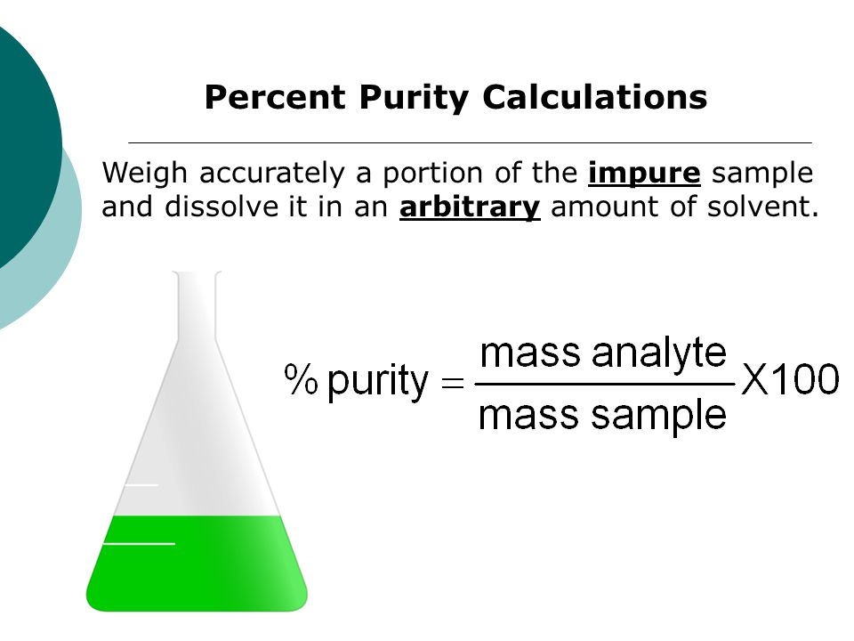 Percent Purity Calculations