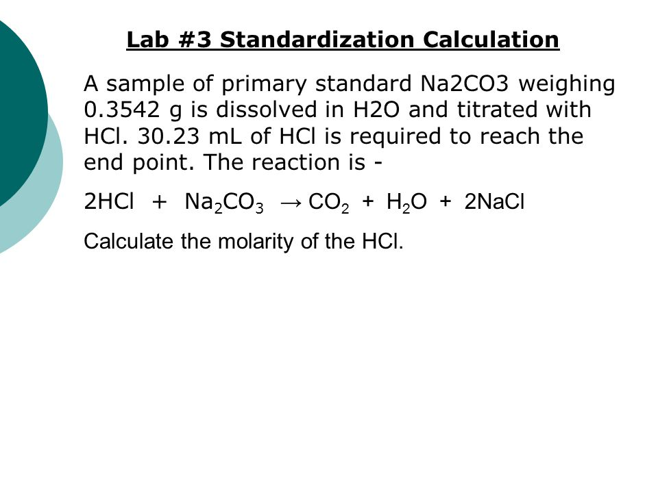 Lab #3 Standardization Calculation
