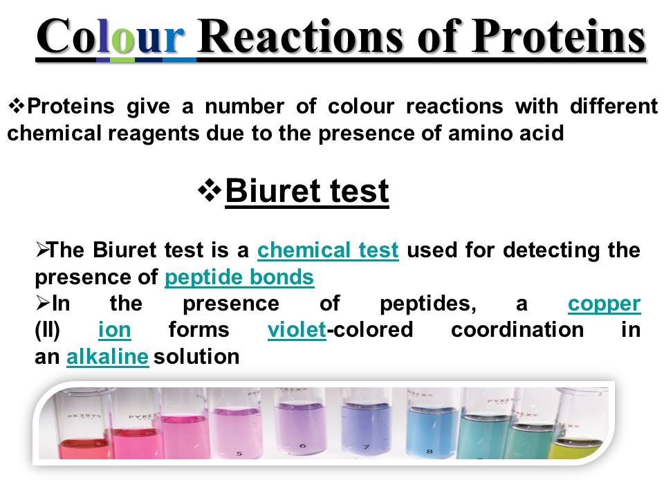 Colour Reactions of Proteins