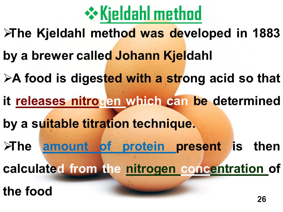 Kjeldahl method The Kjeldahl method was developed in 1883 by a brewer called Johann Kjeldahl.