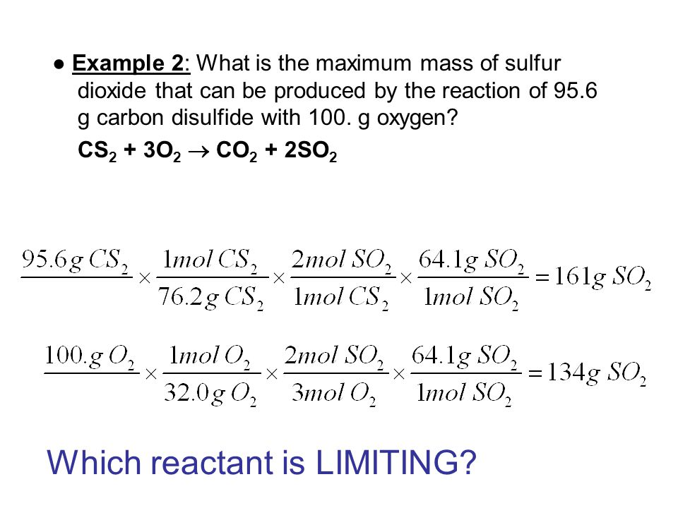 Which reactant is LIMITING
