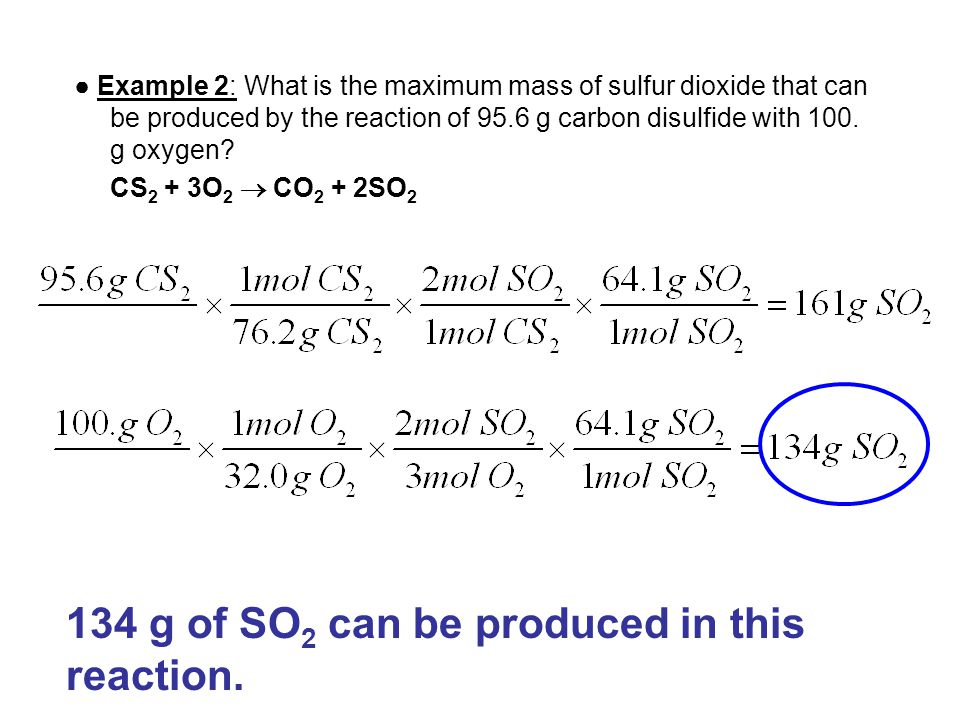 134 g of SO2 can be produced in this reaction.
