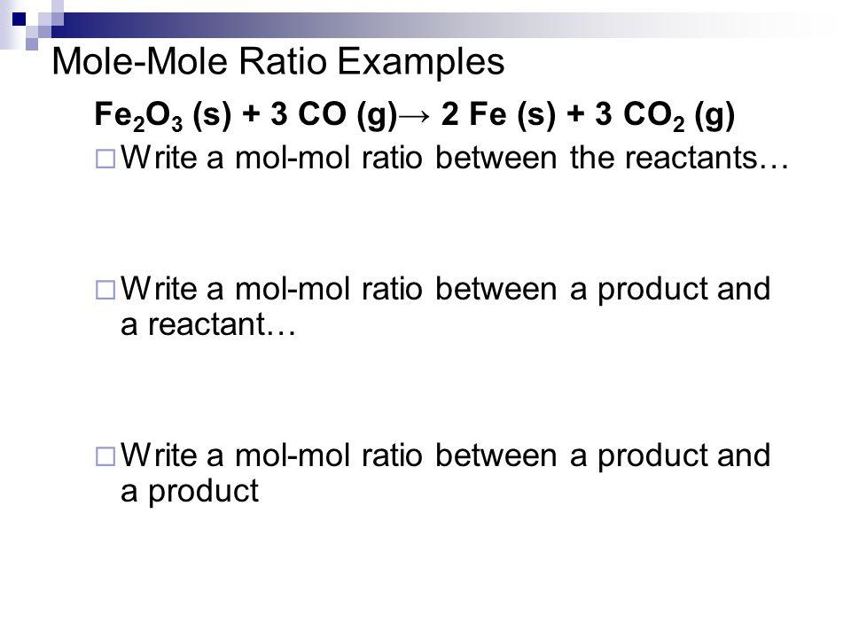 Mole-Mole Ratio Examples