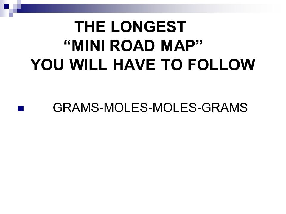 THE LONGEST MINI ROAD MAP YOU WILL HAVE TO FOLLOW