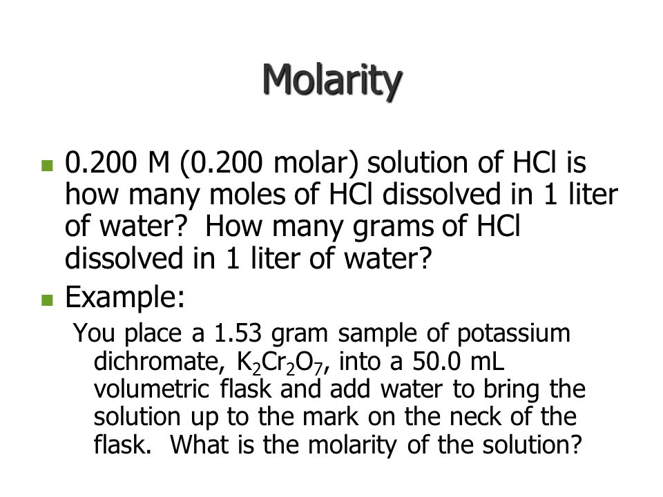 Molarity