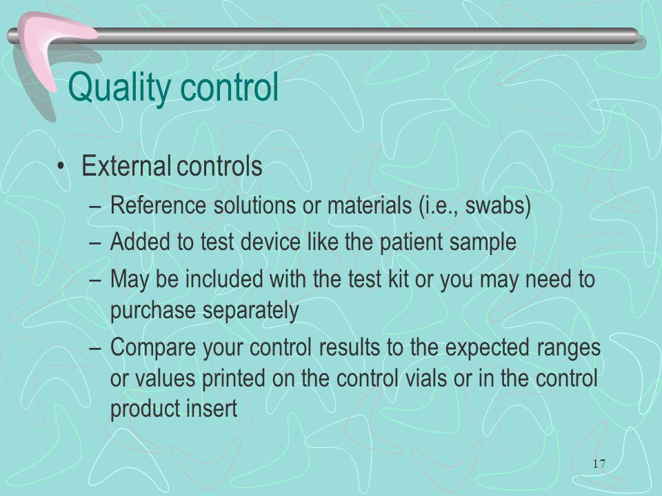 Quality control External controls