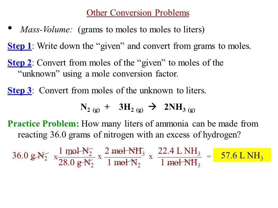 Other Conversion Problems