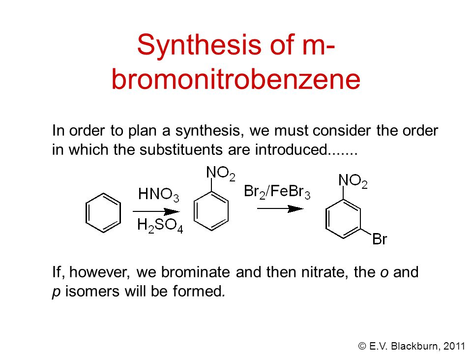Synthesis of m-bromonitrobenzene