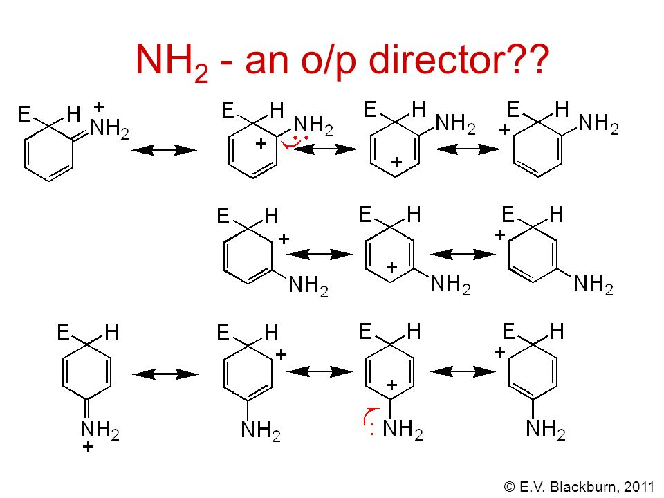 NH2 - an o/p director