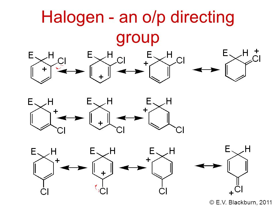 Halogen - an o/p directing group