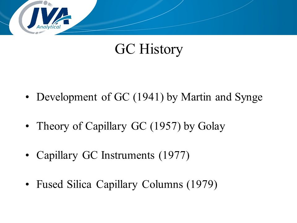 GC History Development of GC (1941) by Martin and Synge