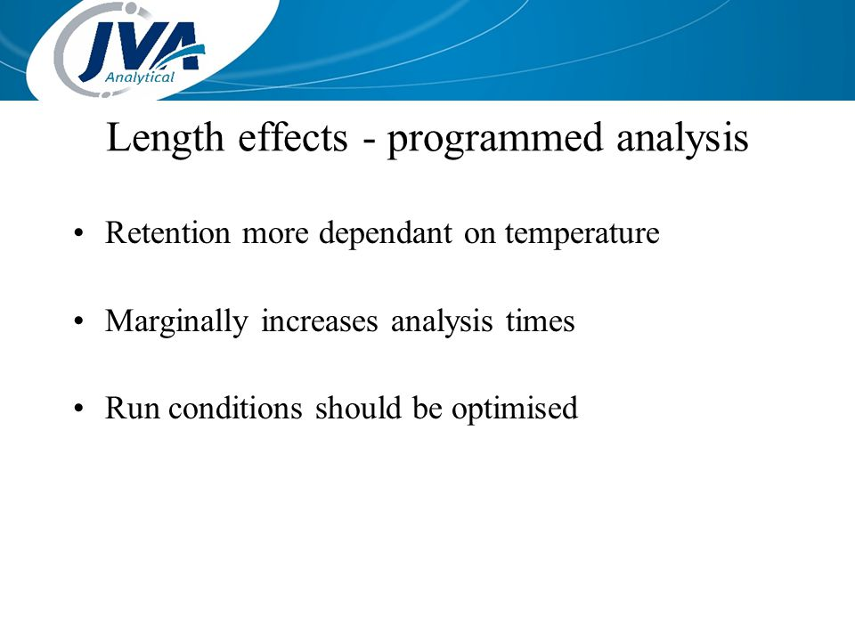 Length effects - programmed analysis