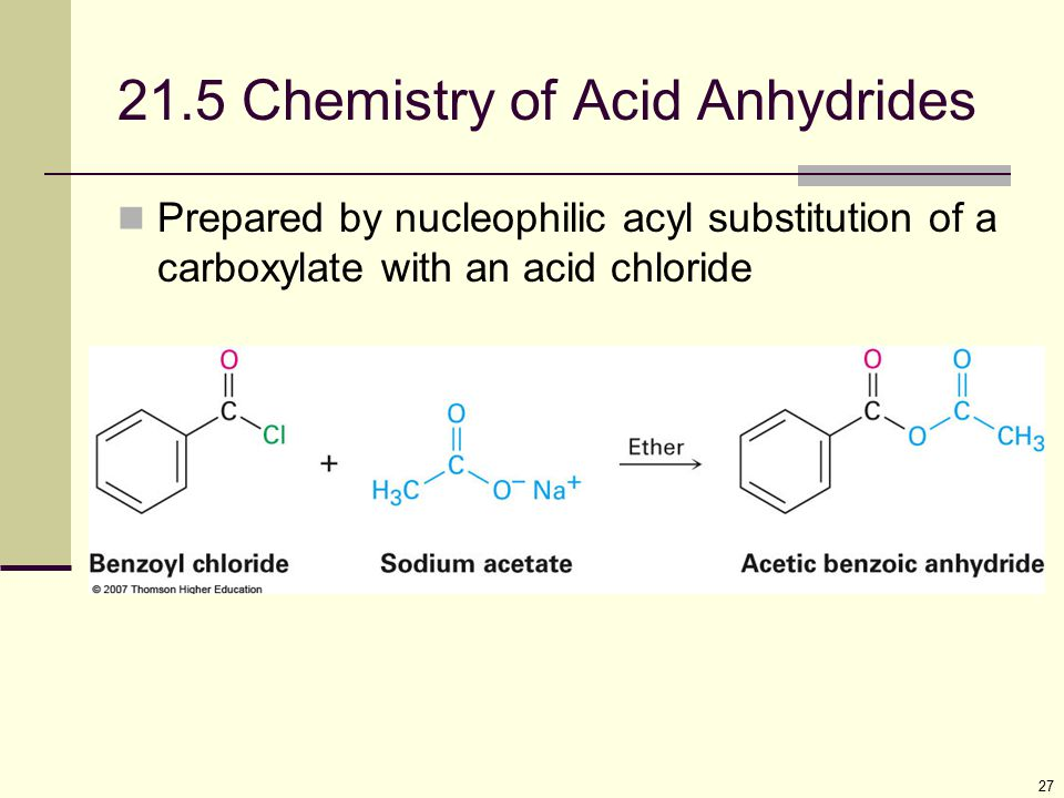 21.5 Chemistry of Acid Anhydrides