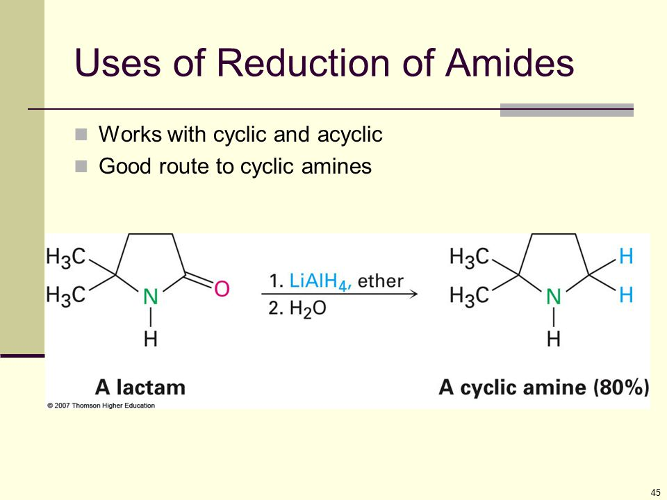 Uses of Reduction of Amides