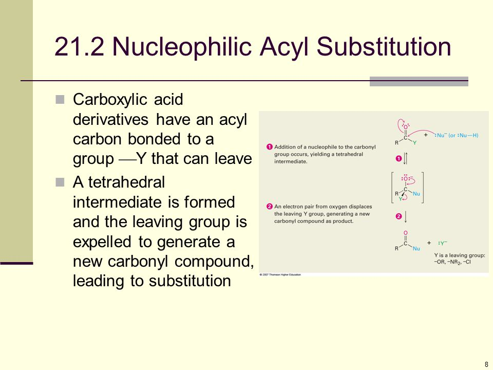 21.2 Nucleophilic Acyl Substitution