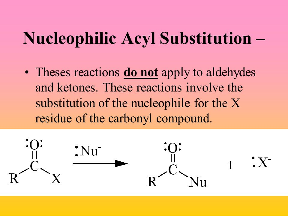 Nucleophilic Acyl Substitution –