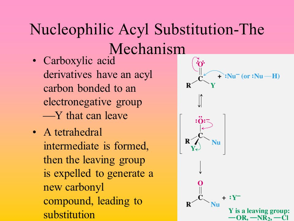 Nucleophilic Acyl Substitution-The Mechanism