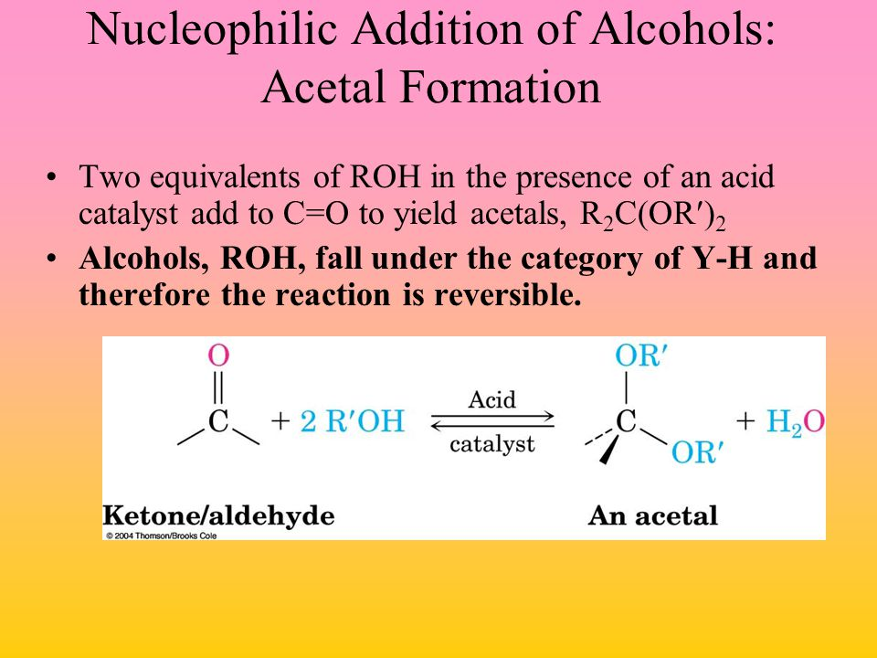 Nucleophilic Addition of Alcohols: Acetal Formation