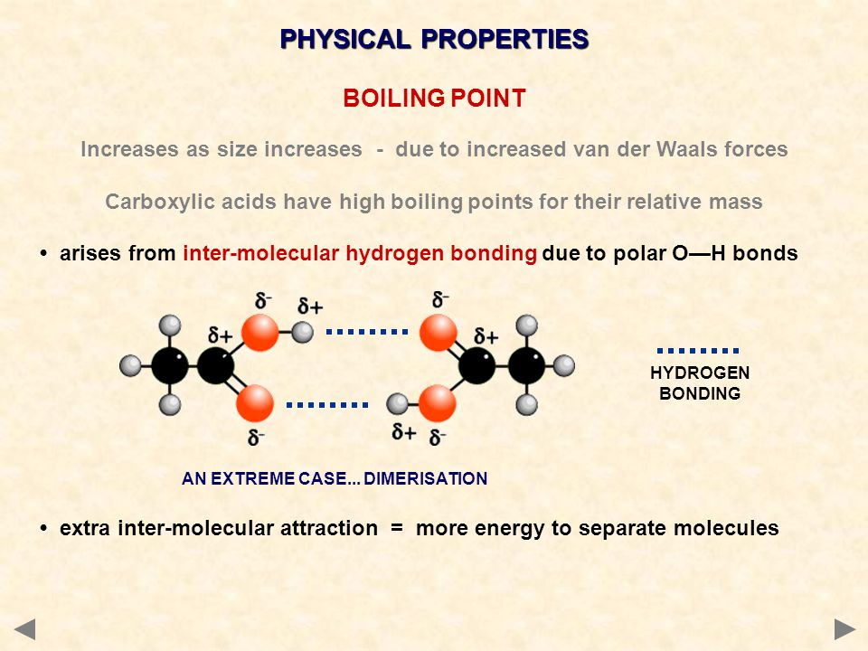 PHYSICAL PROPERTIES BOILING POINT