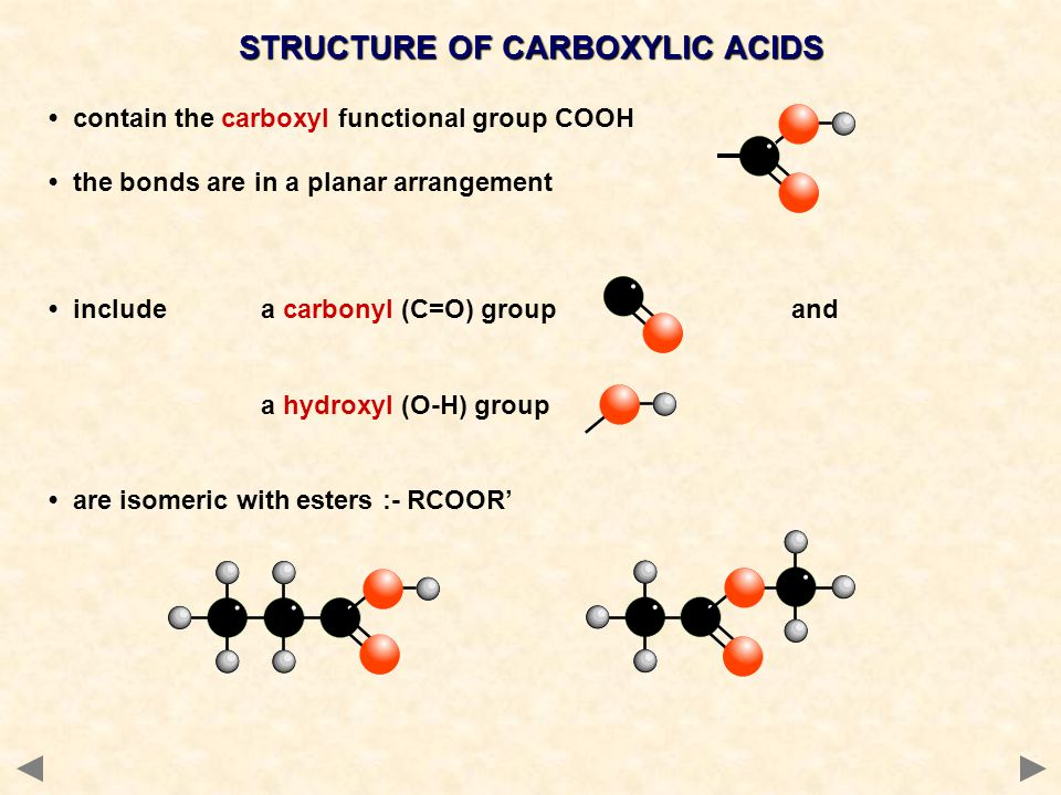 STRUCTURE OF CARBOXYLIC ACIDS