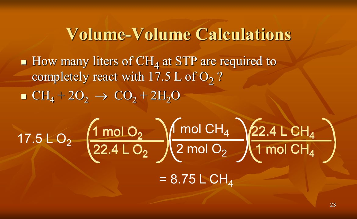 Volume-Volume Calculations