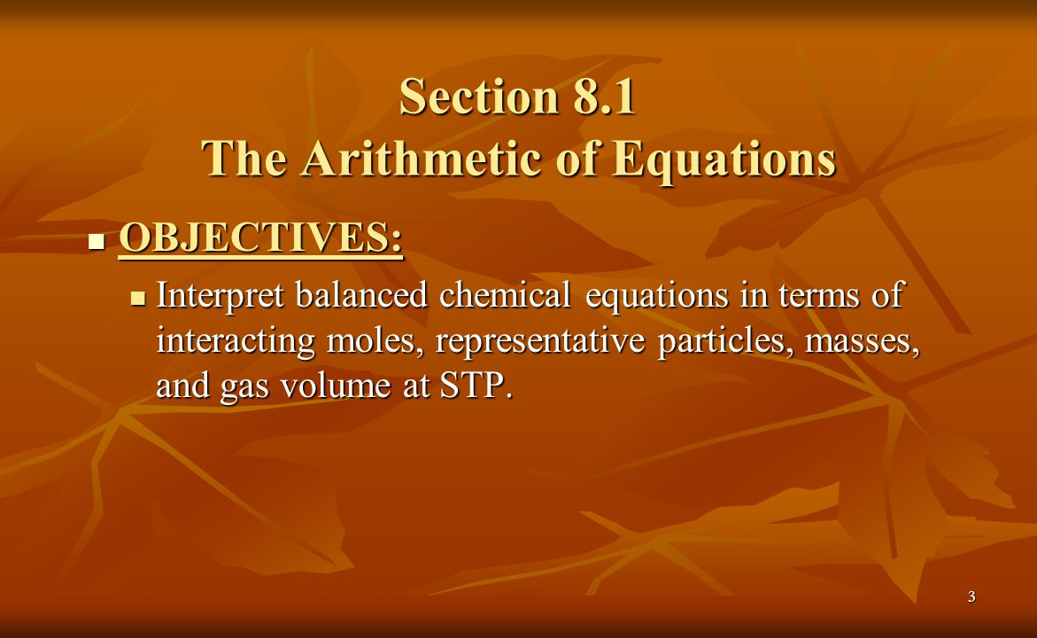 Section 8.1 The Arithmetic of Equations