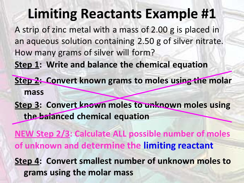 Limiting Reactants Example #1