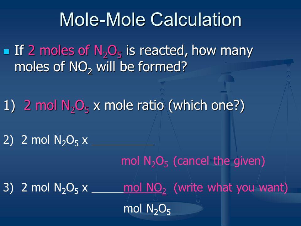 Mole-Mole Calculation