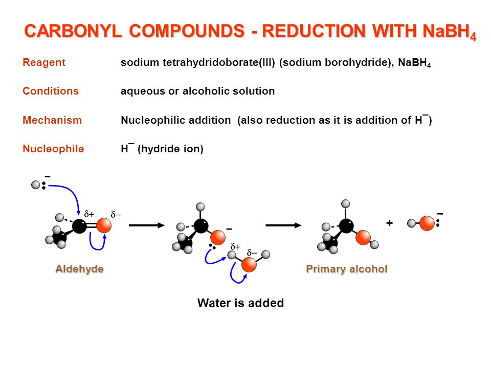 CARBONYL COMPOUNDS - REDUCTION WITH NaBH4