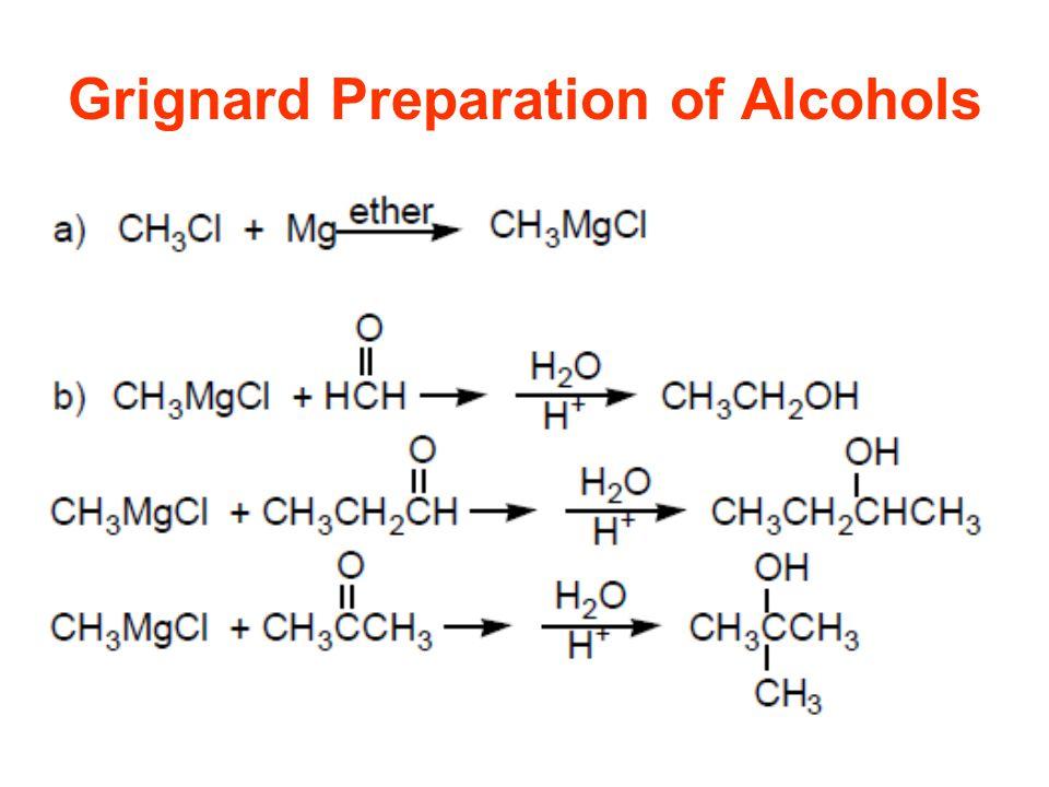 Grignard Preparation of Alcohols