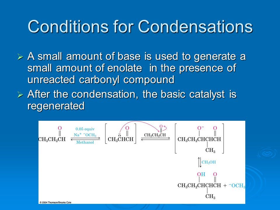Conditions for Condensations