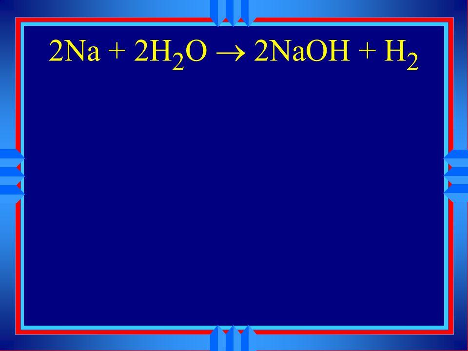 2Na + 2H2O ® 2NaOH + H2
