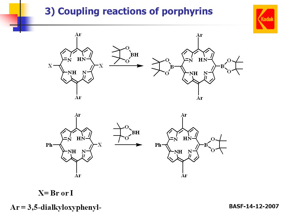 3) Coupling reactions of porphyrins