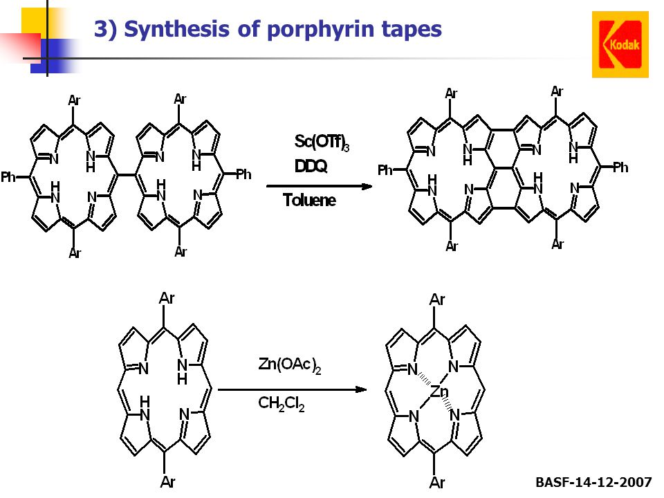 3) Synthesis of porphyrin tapes
