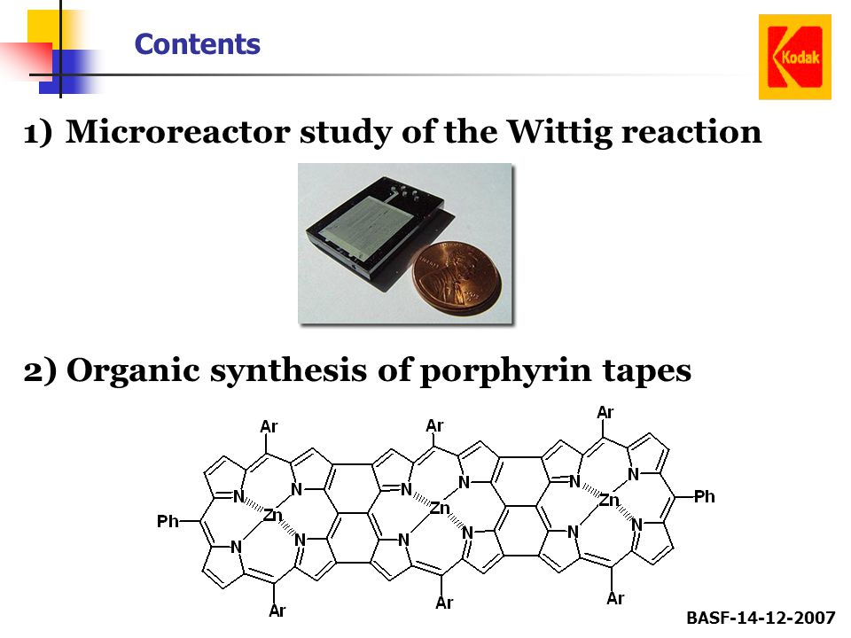 Microreactor study of the Wittig reaction