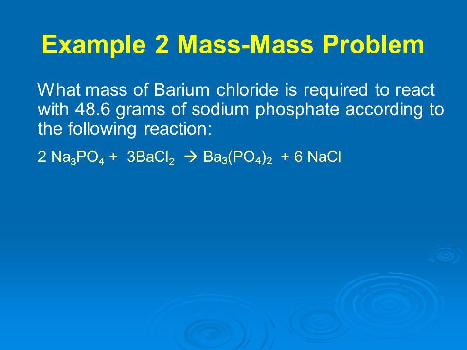 Example 2 Mass-Mass Problem