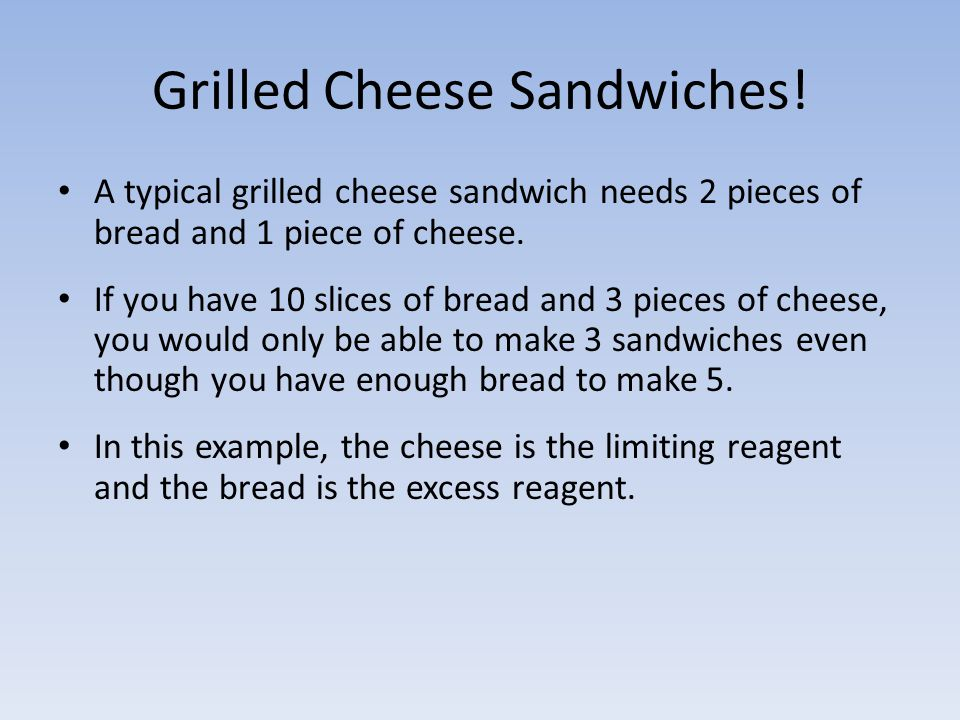 Grilled Cheese Sandwiches!