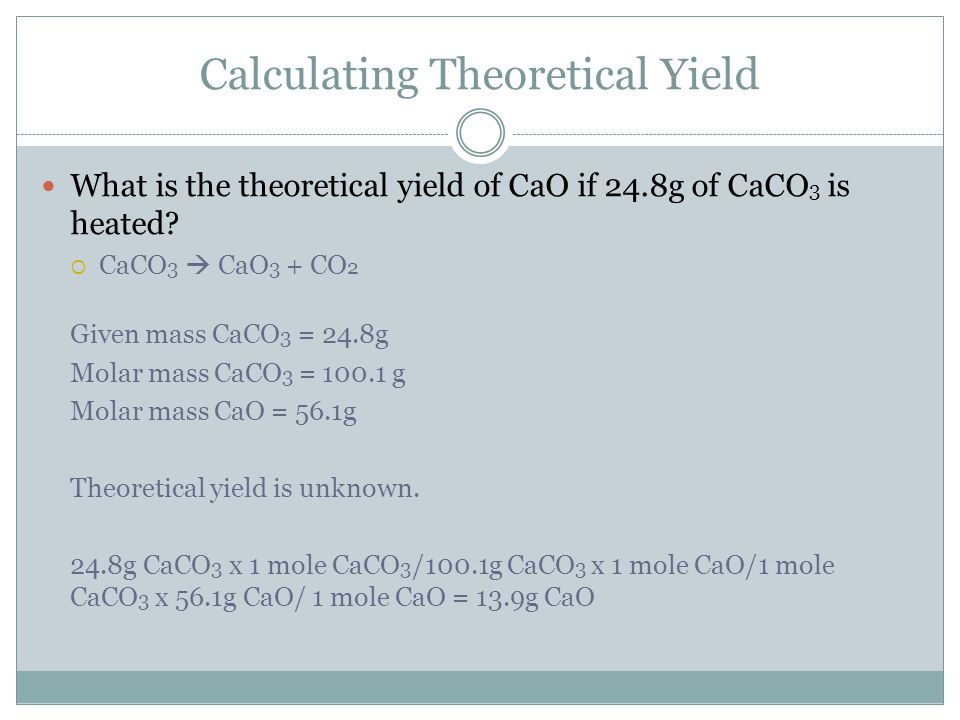 Calculating Theoretical Yield