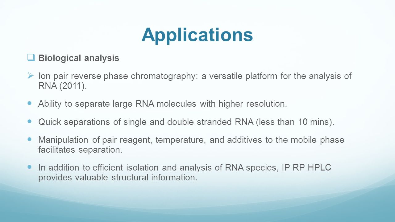 Applications Biological analysis