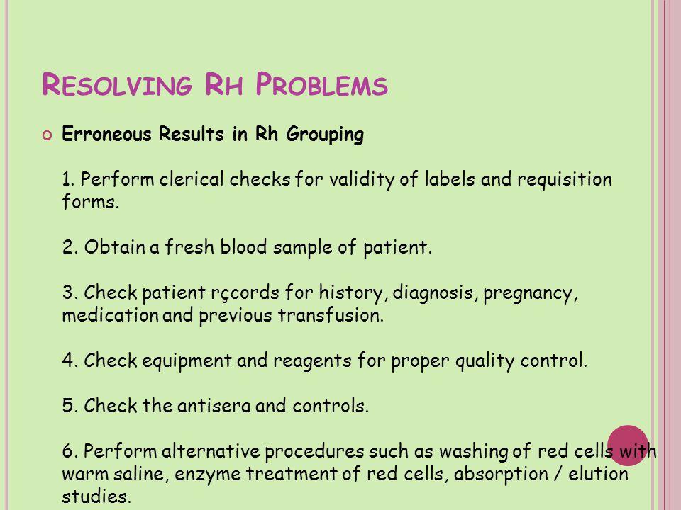 Resolving Rh Problems