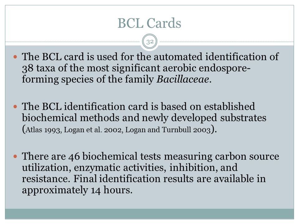 BCL Cards