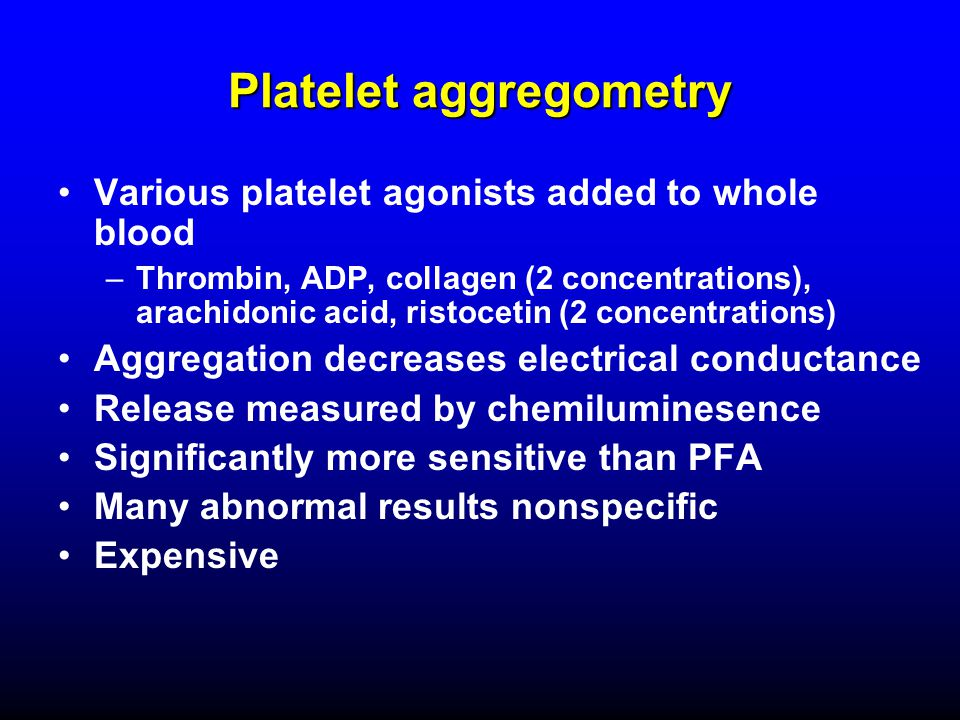 Platelet aggregometry