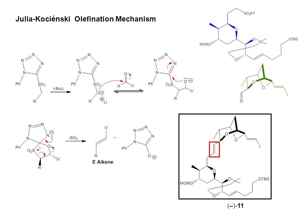 Julia-Kociénski Olefination Mechanism