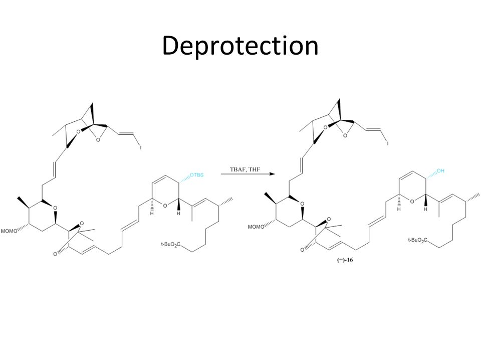 Deprotection And deprotection of TBS group with TBAF, THF step.